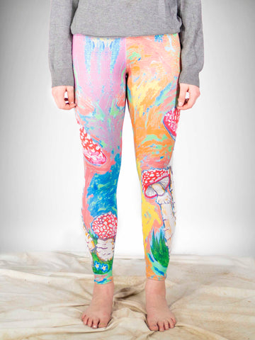 Rainbow Mushroom Lounge Leggings