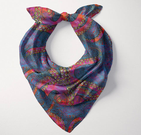 Multicolored Octopus Bandana