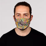 New! Crow and Wild Flowers Face Mask- Kid's and Adult's In Stock
