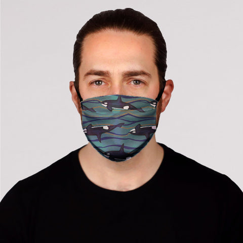 New! Orca Face Mask-  Kid's In Stock