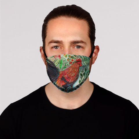 New! Rooster Face Mask- Kid's and Adult's In Stock
