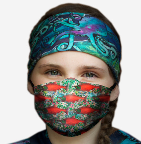Salmon Berry Face Mask- Kid's and Adult's  in stock