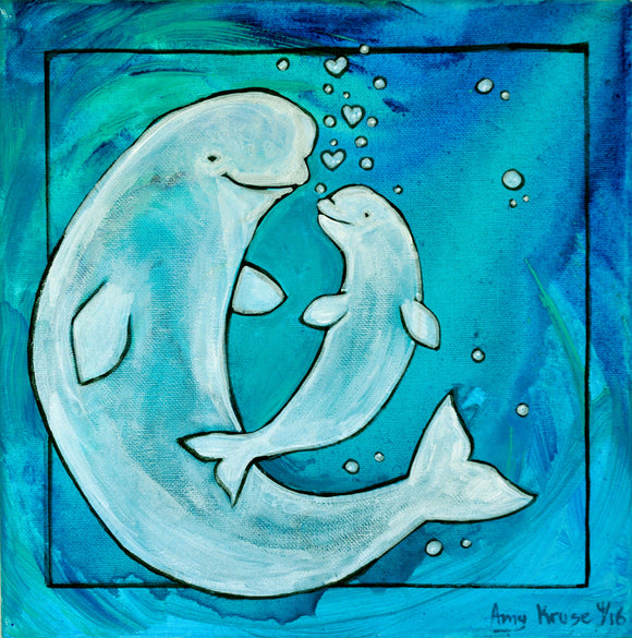 True Love:Beluga Art Print