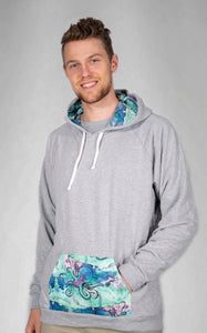 Turquoise Octopus Color Pop Cotton Hoodie