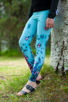 Alaska Wild Flower Yoga Leggings