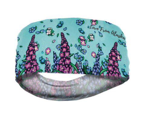 Alaska Wild Flowers Lightweight Headband