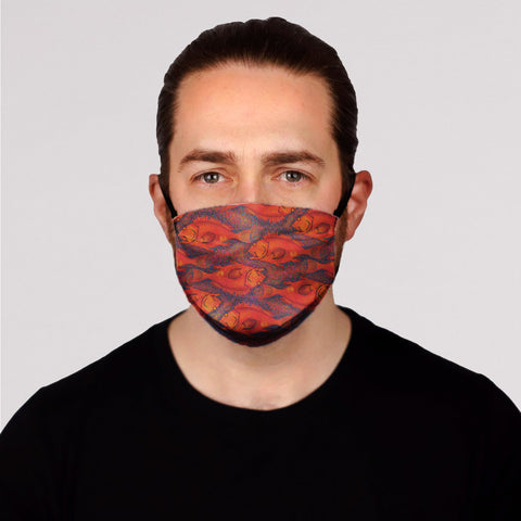 Yellow Eye Face Mask-Kids In Stock