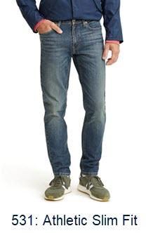 Levi's Men's 531 Athletic Slim Fit Jeans at Dave's New York
