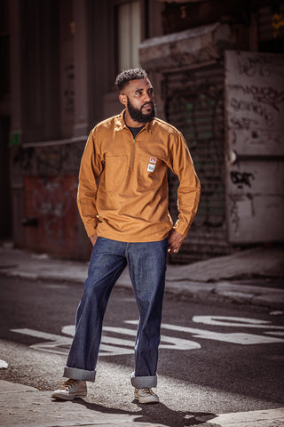 Brown Canvas Work Shirt - Ben Davis Company X Dave's New York Collaboration