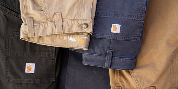 Carhartt Canvas and Denim Work Pants at Dave's New York