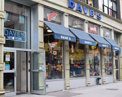 Dave's New York retail storefront