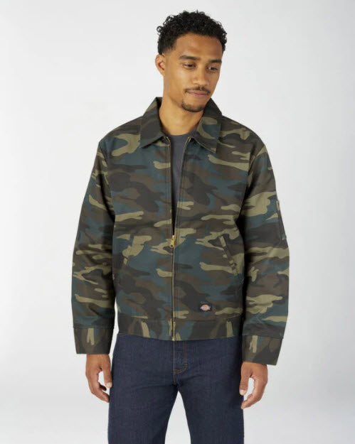 Dickies EIsenhower Workwear Jacket in Camo at Dave's New York