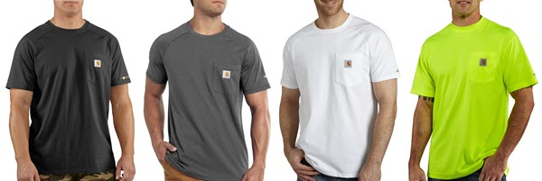 Carhartt Force short sleeve work t-shirts at Dave's New York