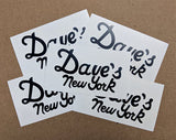 Dave's New York Vintage Logo Stickers