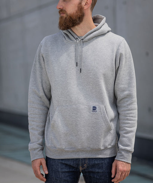 Dave's New York Midweight Pullover Hooded Sweatshirt - Heather Grey
