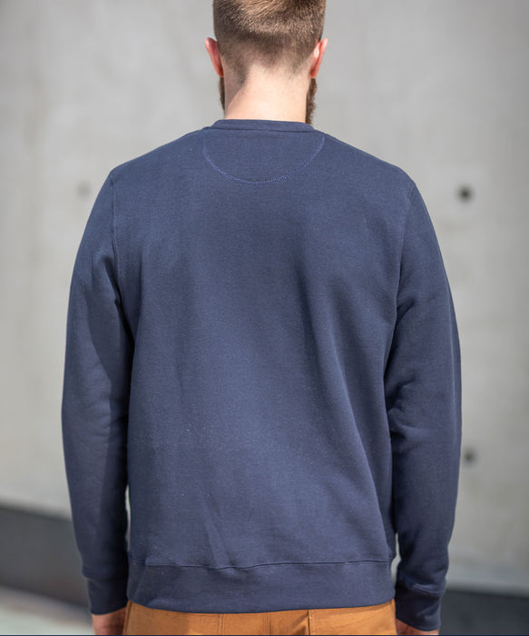 Dave's New York Men's Midweight Crew Neck Sweatshirt - Navy