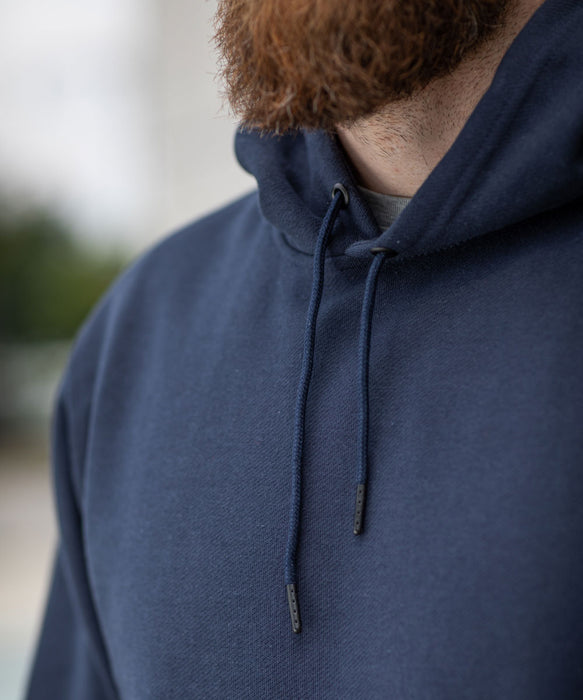 Dave's New York Men's Midweight Pullover Hooded Sweatshirt - Navy