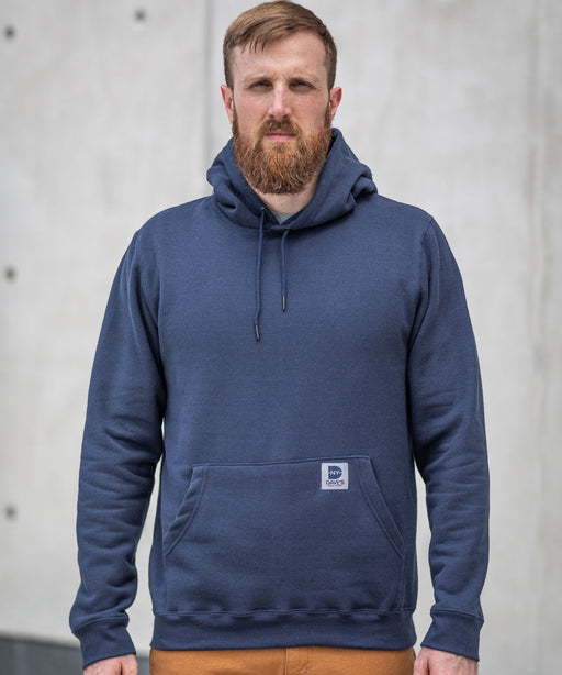 Dave's New York Midweight Pullover Hooded Sweatshirt - Navy