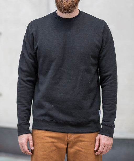 Dave's New York Midweight Crew Neck Sweatshirt - Black