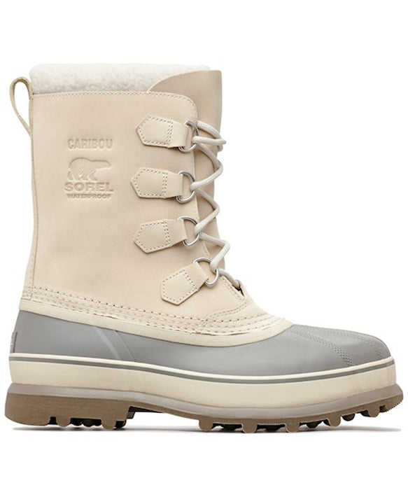 Sorel Men's Caribou Winter Boots (model NM1000) in Oatmeal at Dave's New York