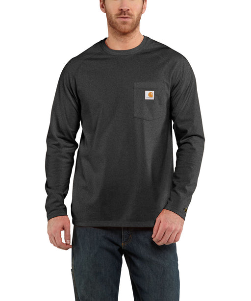 Carhartt 100393 Force Cotton Delmont Long Sleeve T-Shirt – Carbon Heather