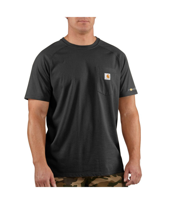 Carhartt Force Cotton Short Sleeve T-Shirt in Black at Dave's New York