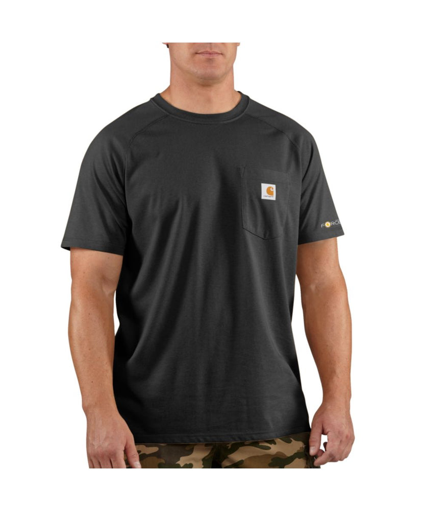 Carhartt 100410 Force Cotton SS T-Shirt – Black