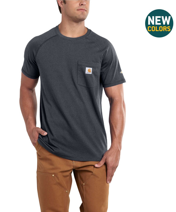 Carhartt Force™ Cotton Short Sleeve T-Shirt - Granite Heather
