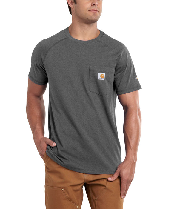 Carhartt Force Cotton Short Sleeve T-Shirt in Carbon Heather at Dave's New York