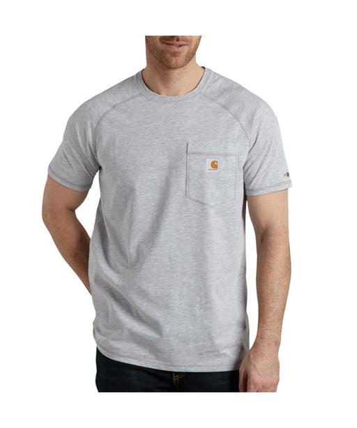 Carhartt 100410 Force Cotton Short Sleeve T-Shirt in Heather Gray at Dave's New York