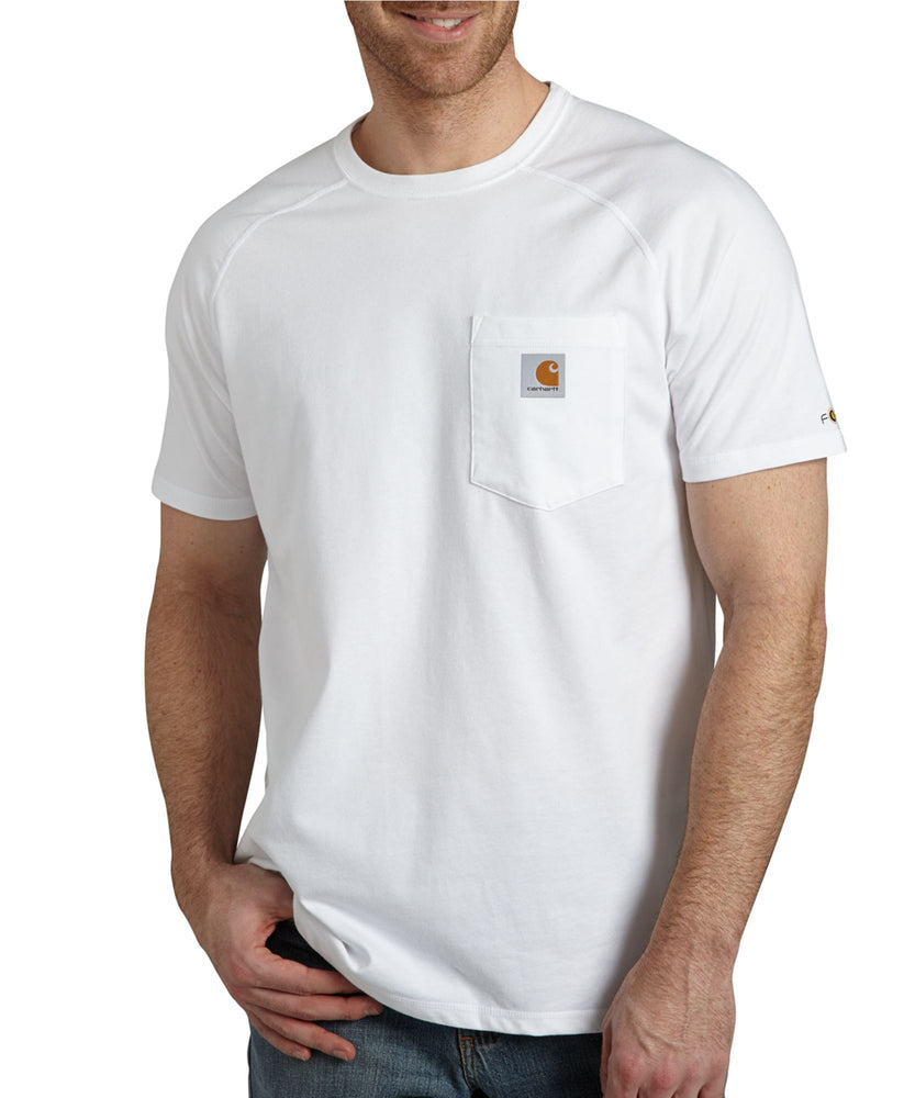 Carhartt 100410 Force Cotton Short Sleeve T-Shirt in White at Dave's New York