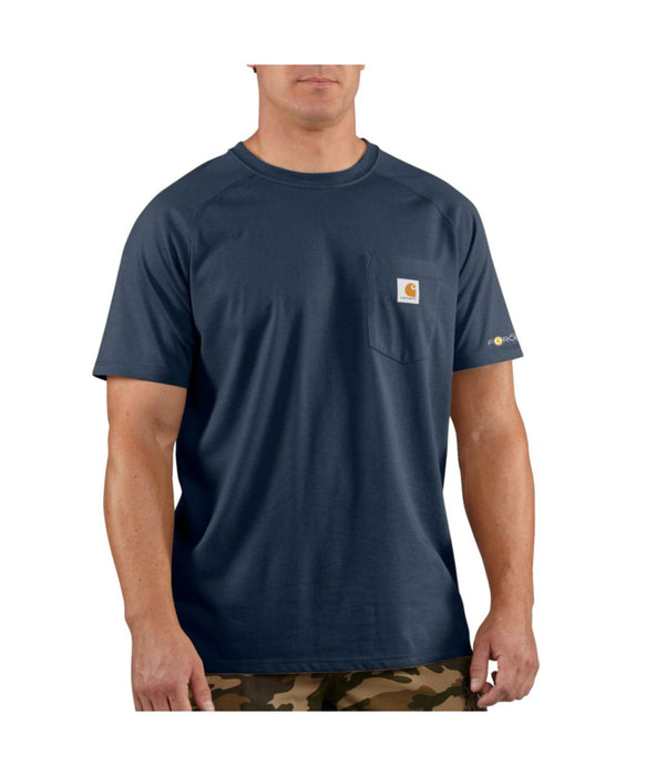 Carhartt 100410 Force Cotton Short Sleeve T-Shirt in Navy at Dave's New York