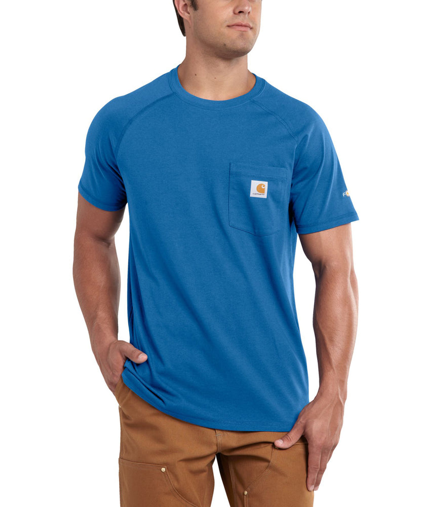 Carhartt 100410 Force Cotton SS T-Shirt – Cool Blue