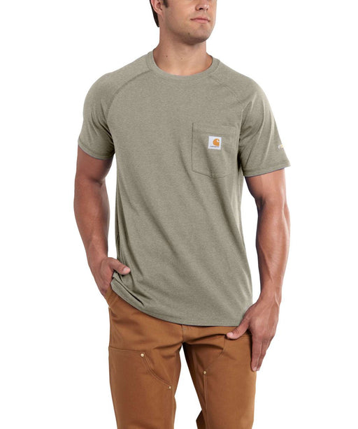 Carhartt 100410 Force Cotton Short Sleeve T-Shirt in Greige Heather at Dave's New York