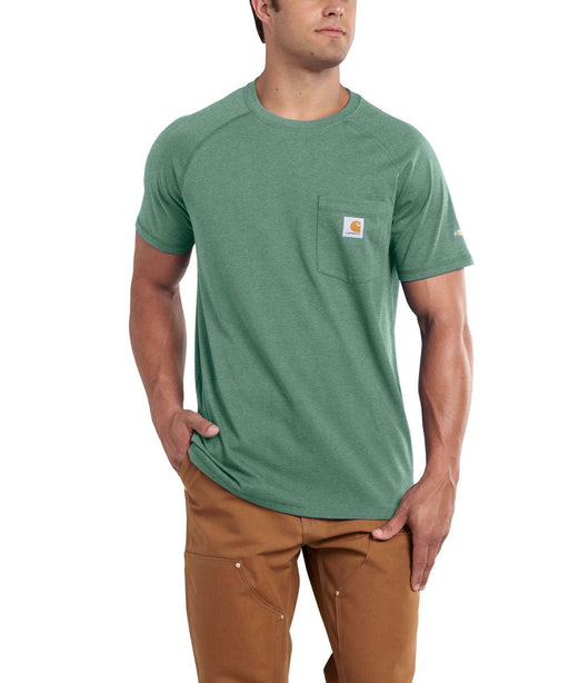 Carhartt 100410 Force Cotton Short Sleeve T-Shirt Musk Green Heather at Dave's New York