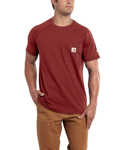Carhartt 100410 Force Cotton SS T-Shirt – Dark Barn Red Heather