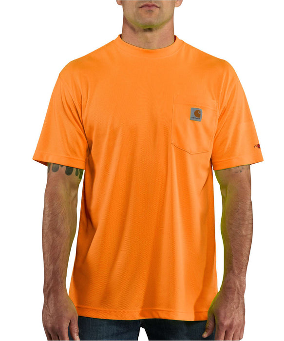 arhartt Force Color Enhanced Short-Sleeve T-Shirt (100493) in Bright Orange at Dave's New York