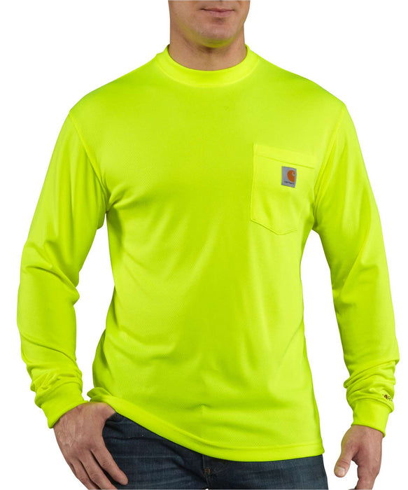 Carhartt Force Hi-Vis Long-Sleeve T-Shirt in Bright Lime at Dave's New York