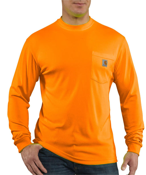 Carhartt Force Hi-Vis Long-Sleeve T-Shirt in Bright Orange at Dave's New York