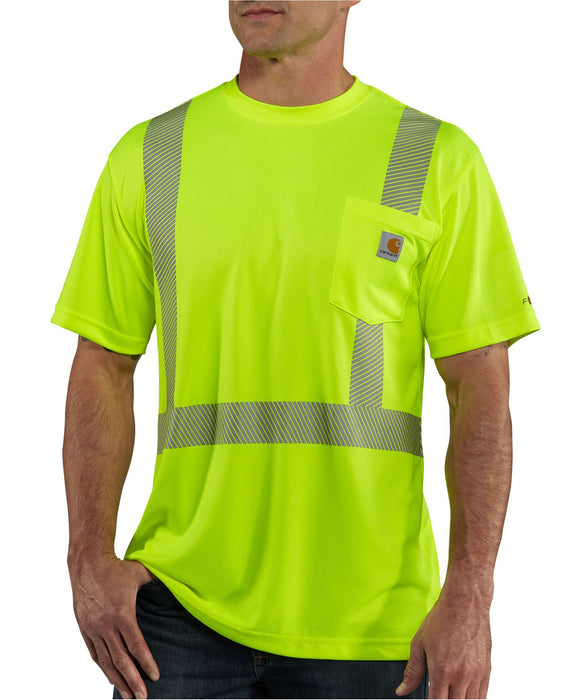 Carhartt Men's Force Hi-Vis Short-Sleeve Class 2 T-Shirt in Brite Lime at Dave's New York