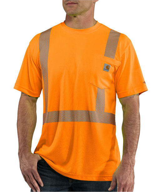 Carhartt Men's Force Hi-Visy Short-Sleeve Class 2 T-Shirt in Brite Orange at Dave's New York