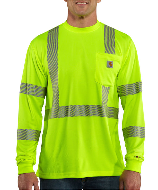 Carhartt Men's Force High-Visibility Long Sleeve Class 3 T-Shirt – Brite Lime