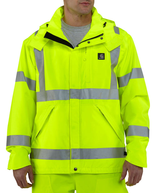 Carhartt High-Visibility Waterproof Jacket - Bright Lime