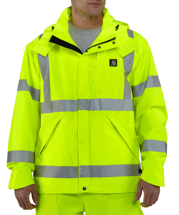 Carhartt High Visibility Waterproof Jacket in Bright Lime at Dave's New York