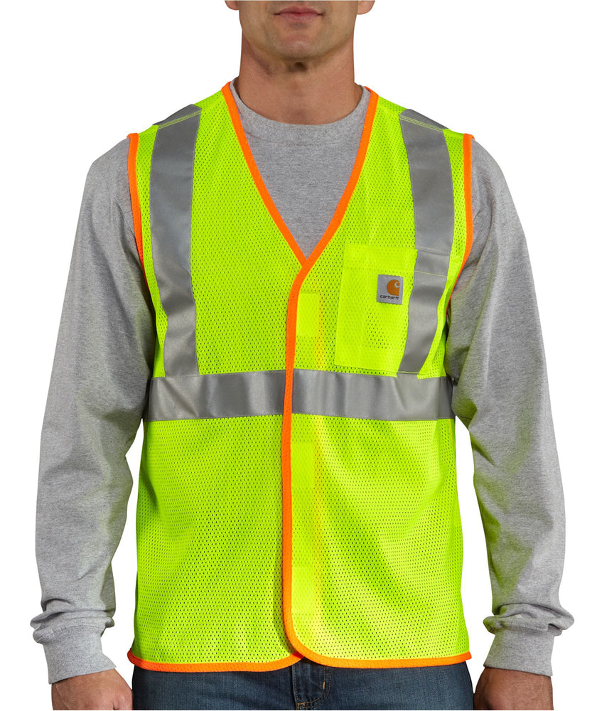 Carhartt High Visibility Vest in Bright Lime at Dave's New York