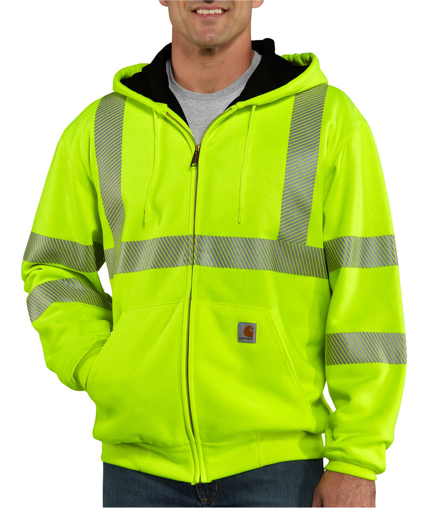 Carhartt High Visibility Thermal-Lined Sweatshirt in Bright Lime at Dave's New York