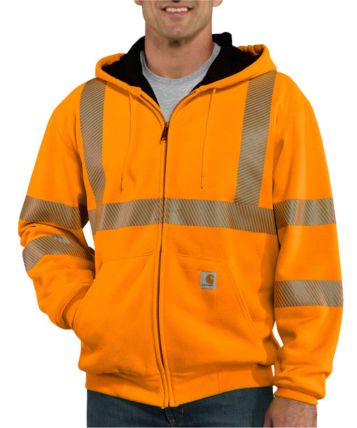 Carhartt 100504 High-Visibility Thermal-Lined Sweatshirt - Bright Orange