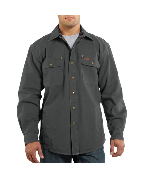 Weathered Canvas Shirt Jac (100590) – Gravel