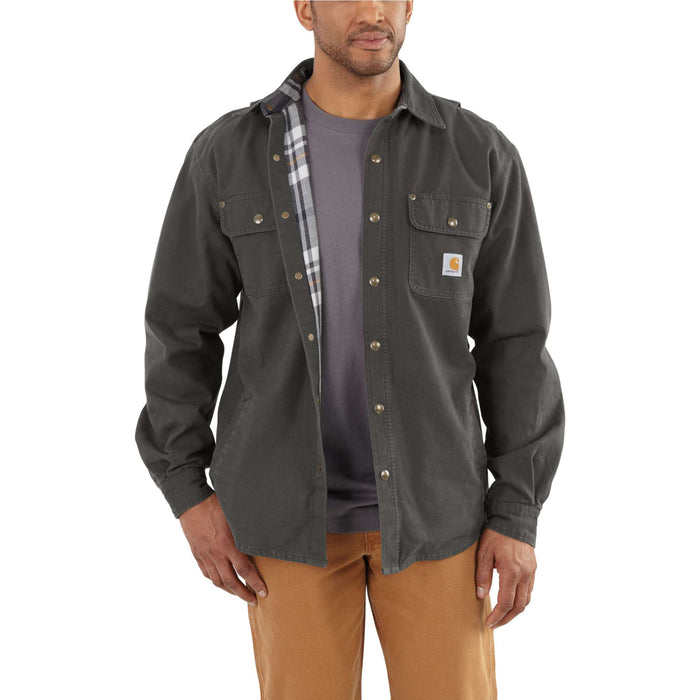Weathered Canvas Shirt Jac (100590) – Peat