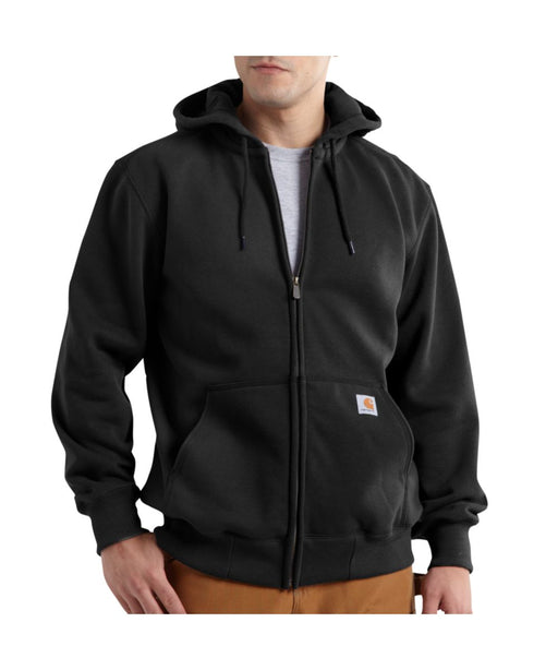 Carhartt 100614 Paxton Heavyweight Zipper Hooded Sweatshirt in Black at Dave's New York